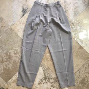 Chanel hi waist pleat trouser vintage career pant